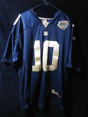 1b052e89db5 NFL New York Giants Eli Manning Super Bowl XLII Reebok Jersey size 52  stitched