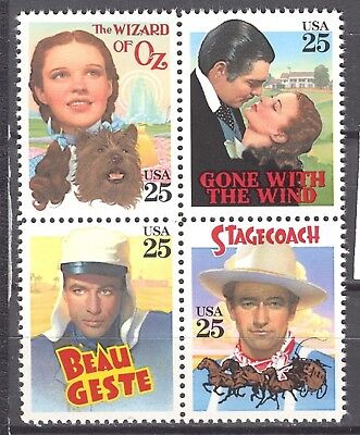 MNH - 2445/2448 - Block of 4 - CLASSIC FILMS - under face value