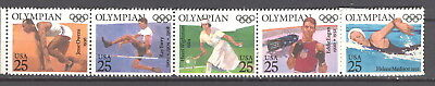 MNH - 2496/2500 - Strip of 5 Olympians - incl. JESSE OWENS - under face value