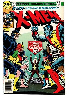 X-Men # 100 (1976)  Higher grade VF+ 8.5.  Nice copy!