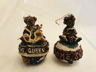 Boyds Bears Christmas Ornaments (lot Of 2)