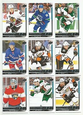 2018-19 Upper Deck Young Guns RC (9) Card Lot - See Description and Picture