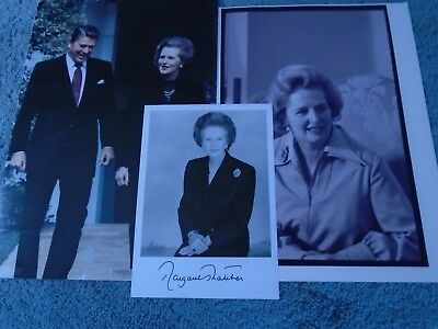 Prime Minister Margaret Thatcher photo Signed + Freebies