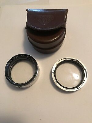 Heidosmat Rolleinar 2 Lens Made In Germany Good Condition With Case
