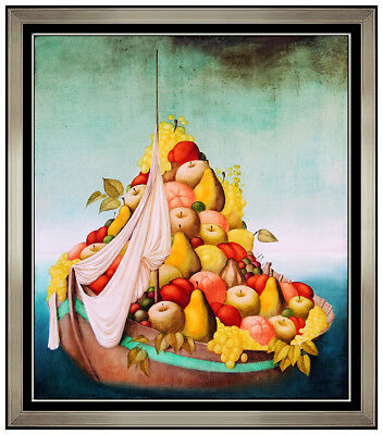 Philippe Auge Original Painting Oil Painting On Canvas Fruit Still Life Artwork