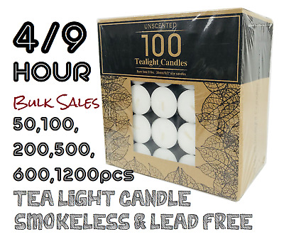 Unscented Tealight Tealights 9 Hour 100pcs Candle Bulk Tea Lights Candles Light
