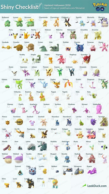 Pokemon Go: Shiny Trader (Must Be A Registered Trade) If Not Msg me