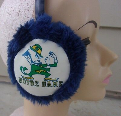 Vintage Notre Dame  Fighting  Irish School  Fuzzy Plush Ear Muffs