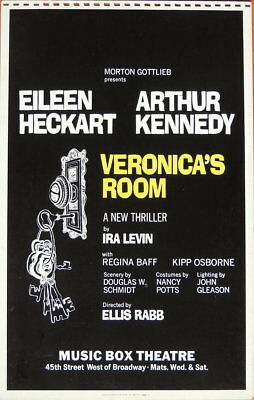 TRITON offers Original 1973 sample Broadway poster VERONICA'S ROOM thriller
