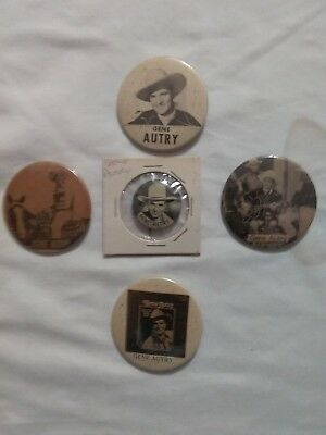 5 Gene Autry Pin Back Buttons 1