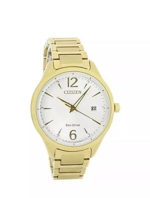 Citizen Eco-Drive Chandler Gold Tone Silver Dial Steel Ladies Watch FE6102-53A