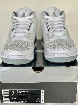 a0c88be0a50810 100% NIKE AIR JORDAN III 3 FLIP RETRO Cement Sz. 9 DS VINTAGE RARE23 ...