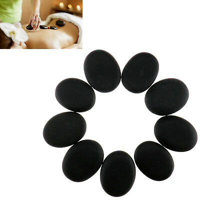 9PCS Massage Master HOT STONE MASSAGE SET Basalt Stones in Pocket Relaxing