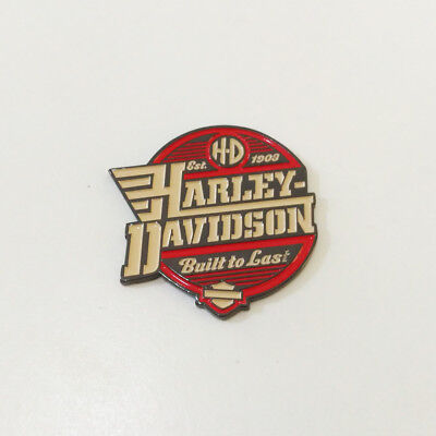 3D Metal Built To Last Emblem / Medallion For Harley Davidson Tank / Body