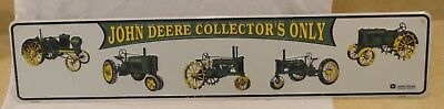 "John Deere Metal Sign Advertising 5"" x 24"" Collector's Only"