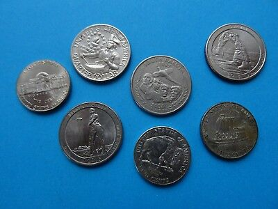 Quarter Dollar Coins of USA / United States of America Quarters- US 5 - 25 cents