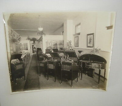 c 1916-1920  Music Store Interior Many Phonographs 8 x 10 Original