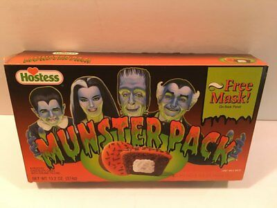Hostess Munsters Cupcake Box with Free Grandpa Mask empty