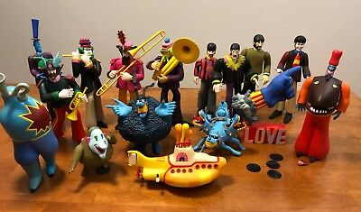 16 Figure Set: Beatles McFarlane Yellow Submarine and Other Characters