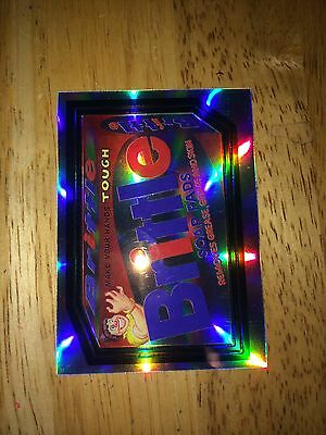 2014 Wacky Packages Chrome Refractor Card Brittle Soap Pads Mama Tough Says 75