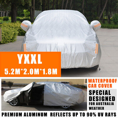 100% Waterproof Large Full Car Cover 3 Layer Heavy Duty Breathable UV Protection