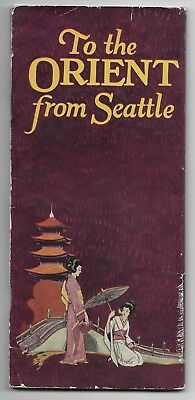 1923 To The Orient From SEATTLE ADMIRAL ORIENTAL LINE US Shipping Board Brochure