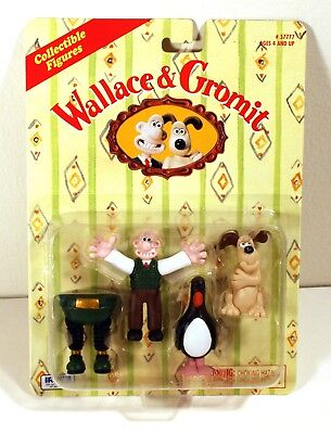 Wallace and Gromit feathers mcgraw Wrong Trousers Set Of 4 Figures Mint Package