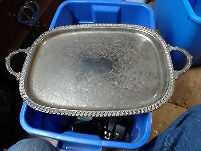 Leonard Silverplate Footed Serving Tray