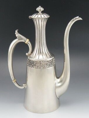 Antique Reed & Barton Sterling Silver Aesthetic Turkish Teapot or Coffeepot