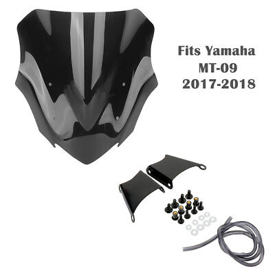 ABS Motorcycle Windshield WindScreen With Bracket For Yamaha MT-09 2017-2018