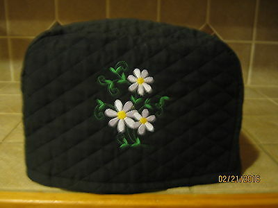 New 2 or 4 Slice Toaster Appliance Covers with Daisies, Choose black or red