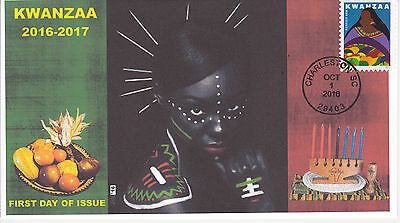 Jvc Cachets - 2016 Kwanzaa Issue First Day Cover Fdc Black Heritage Design #3
