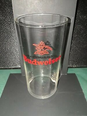 budweiser beer glass aneled 1940s