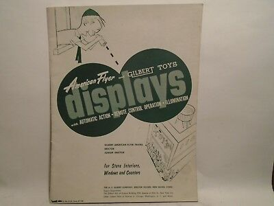 Original 1954 Catalog Of American Flyer & Gilbert Toys Store Displays In Mint Co