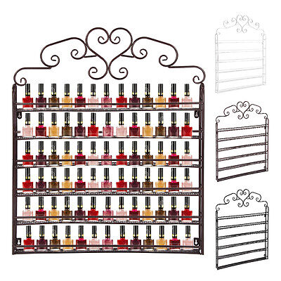 Halloween Metal Wall Mounted 6 Tier Nail Polish Rack Organizer Display Shelf UK.