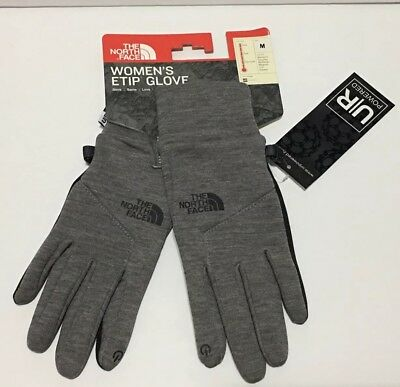 The North Face Women's ETIP Tech Gloves Medium Grey NEW! NF0A3KPPJBV
