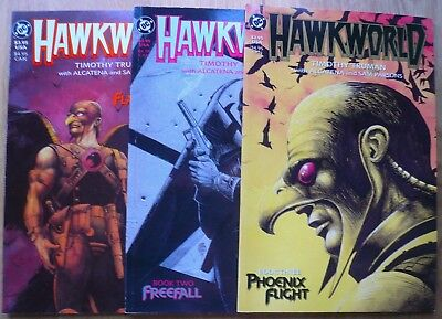 HAWKWORLD #1-3 by Tim Truman F/VF DC Comics Hawkman
