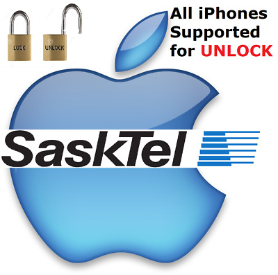 Fast SaskTel Canada iPhone Unlock 5, 5S,6,6S,7,8,X - Direct Source 1-4 Hours All