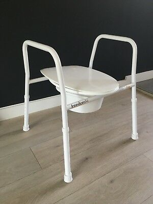 Freedom - Heavy Duty Over Toilet Aid Mobility Frame - w/ Seat & Adjustable Legs