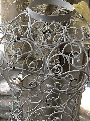 White distressed finish Metal scrolls Mannequin  / Girls room decor