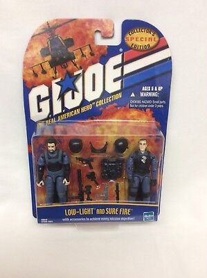 Brand New! 2001 GI Joe Real American Hero Coll. Low-Light & Sure Fire HASBRO.