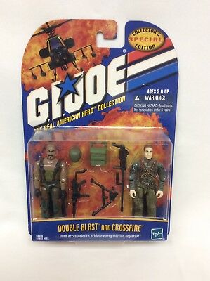 Brand New! 2001 GI Joe Real American Hero Coll .Double Blast & Crossfire  HASBRO