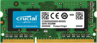 NEW! Crucial 4GB Notebook Memory PC3L -12800 DDR3L-1600 Sodimm 204Pin Laptop RAM