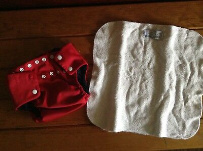 large peapod cloth nappy missing snap button insert has some piling