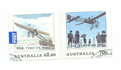 Australia-First Airmail set fine used cto 100th anniv early flight aviation-2014