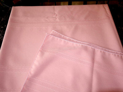 Vintage Beautiful Pink Tablecloth 82x60 Free Shipping