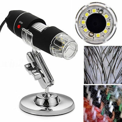 1600x USB Microscope Endoscope Magnifier 8 LED Digital Camera for iPhone Android