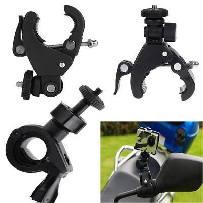 Bike Motorbike Handlebar Clamp Bracket Holder Mount for Action Camera Gopro LJ