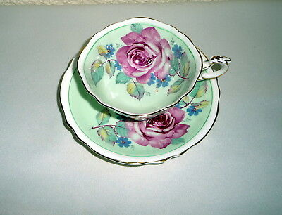 Vintage Paragon Bone China Pink Rose & Flowers Cabinet Tea Cup & Saucer