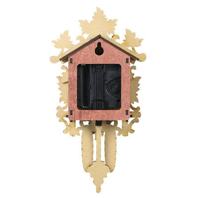 Cuckoo Wall Clock Bird Wood Hanging Decorations for Home Cafe Restaurant E7J5